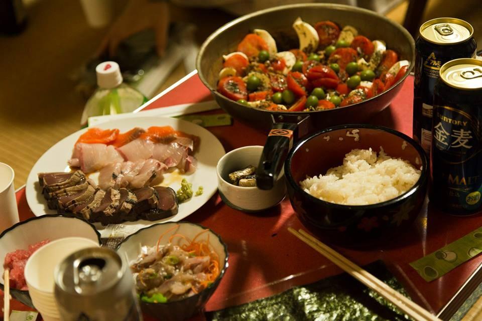 金沢アートグミの方がこさえてくれた料理。美しか~。