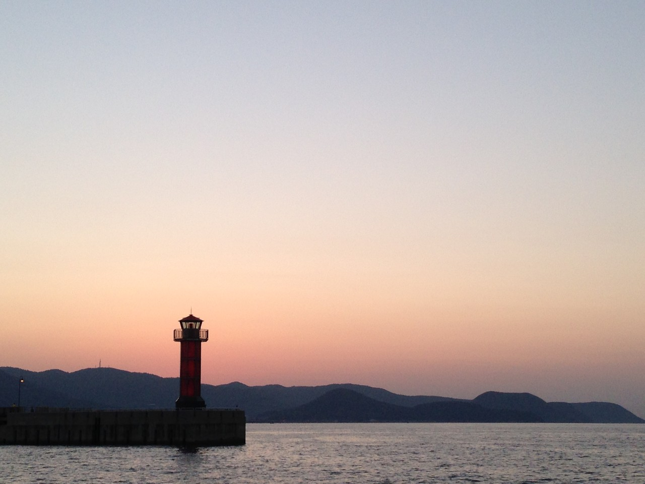 高松港手前の景色