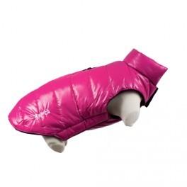 doudoune rose chien