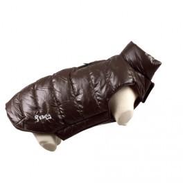 doudoune marron chien