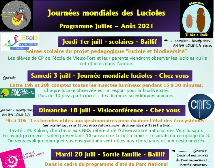 Journées mondiales des lucioles : le programme en juillet août 2021