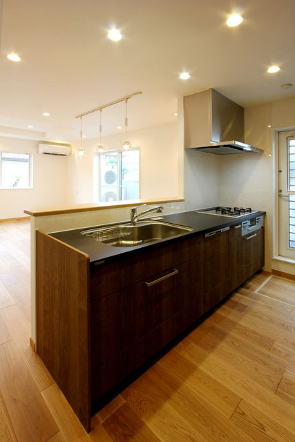 注文住宅 子育て応援 対面式キッチン 建築家
