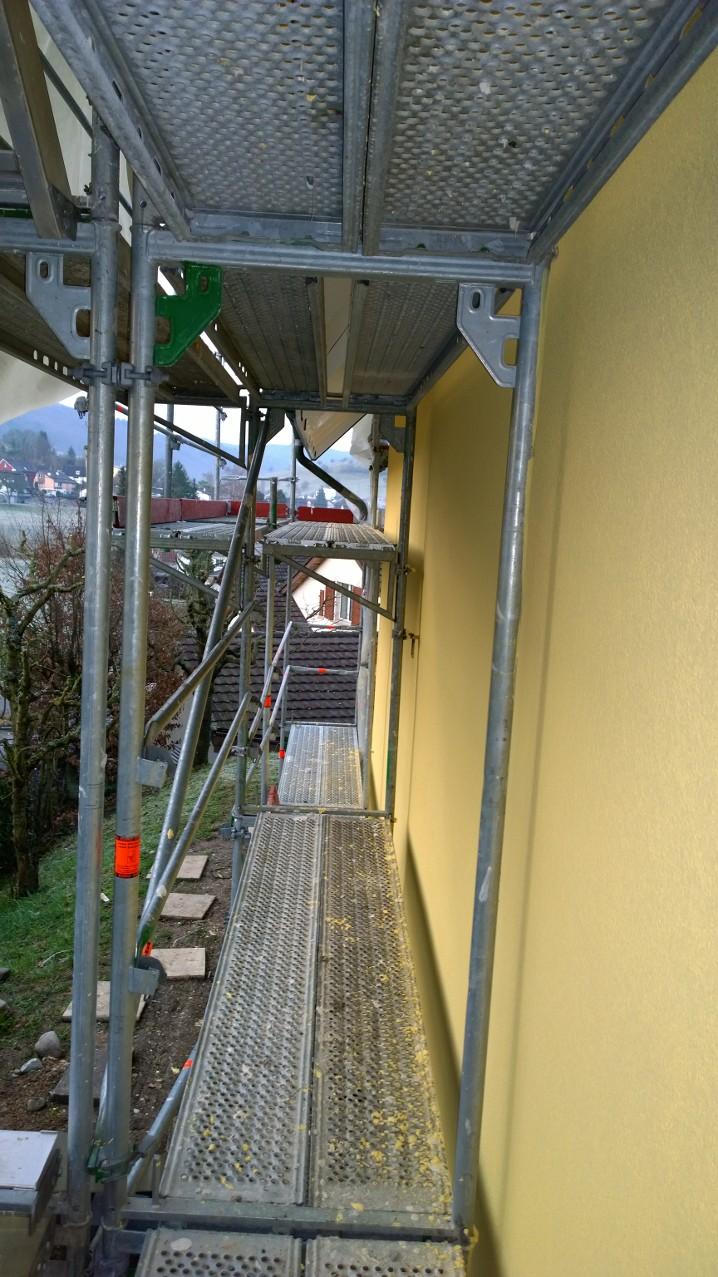 Fassade neu gestrichen in Liestal.