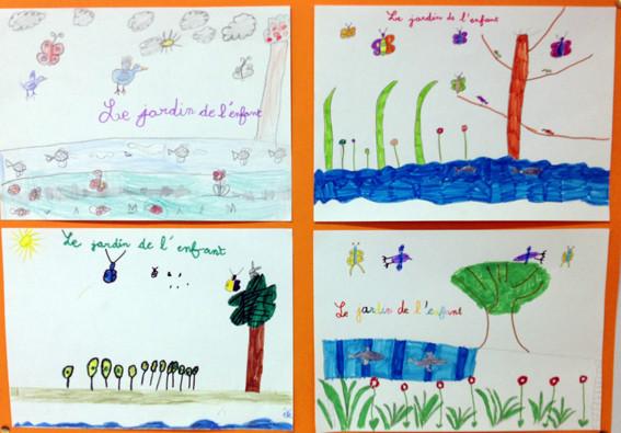 dessins par la classe de CE1 de sannerville