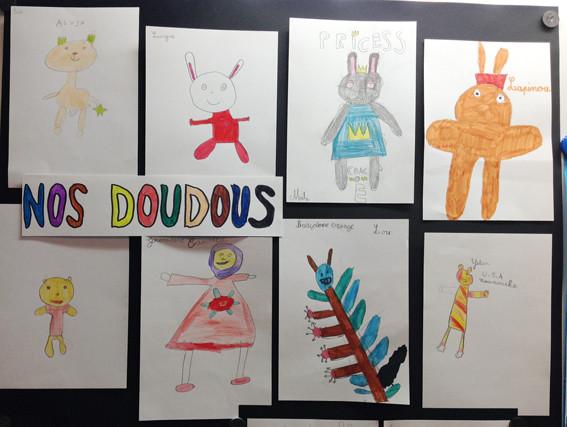 les enfants des classes de CE1 et CE2 ont dessiné leurs doudous !