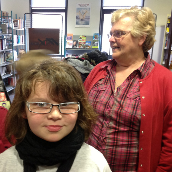 rencontre avec la classe de CM1 à la bibliothèque de Sannerville