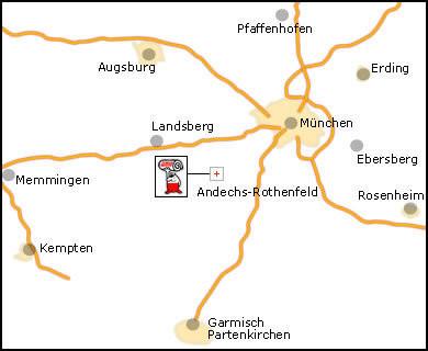 Karte des Abhol- und Liefergebiets