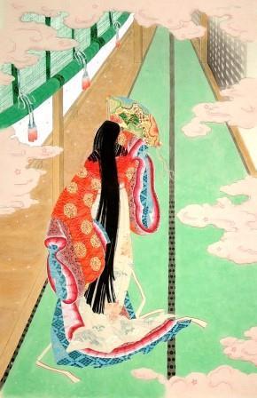 「朧月夜」 M10号  紙本彩色 2008年制作