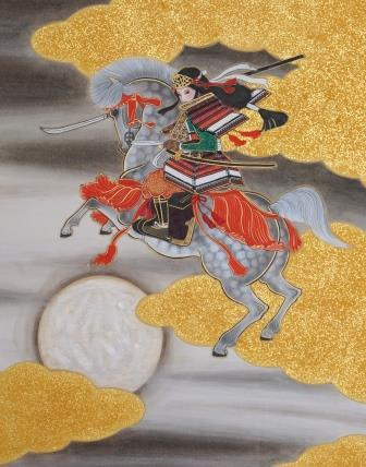 「巴参上」 F6号 紙本彩色・箔 2014年制作