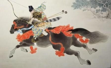 「笠懸」  P80号  紙本彩色  2012年制作