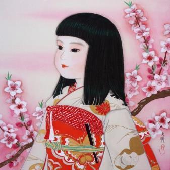 「花と咲け」 S3号  紙本彩色 2014年制作