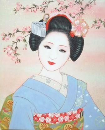 「小春日」 F3号 紙本彩色 2010年