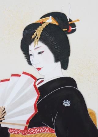「珠玉」 F2号 紙本彩色  2012年制作