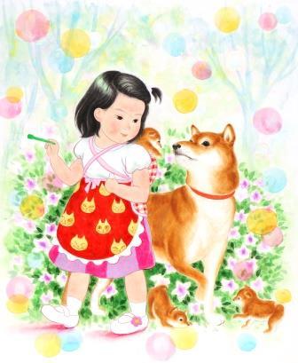 「小さいお母さん」 F8号 紙本彩色 2016年制作