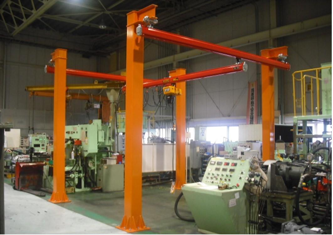 下関市 250kgライトクレーン L4000 × W4000 × H4000 独立柱工事含む