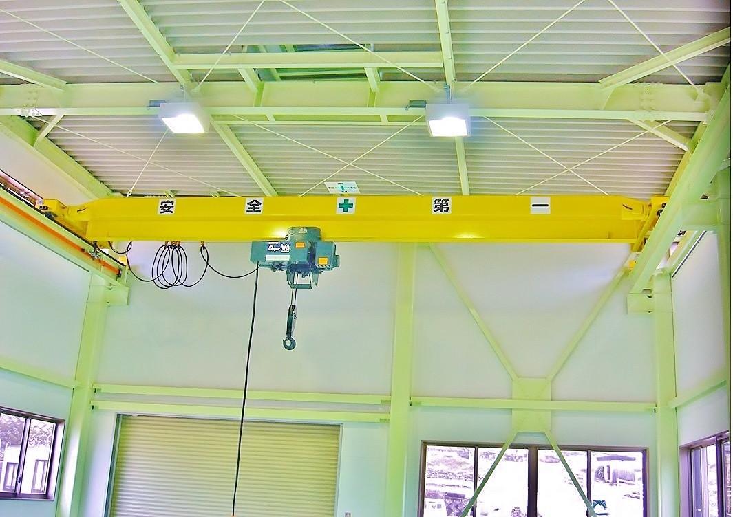 佐世保市 オーバーヘッド形天井クレーン 2.8t × S8500 (オールインバータ仕様)