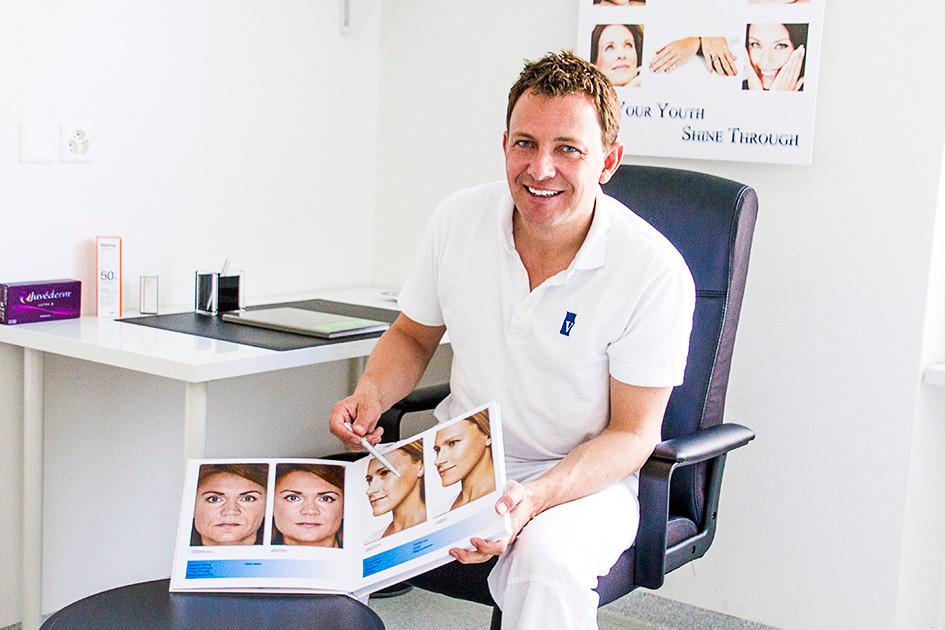 Dr. Villiger: erklärt kosmetische Behandlungen anhand von Beispielen