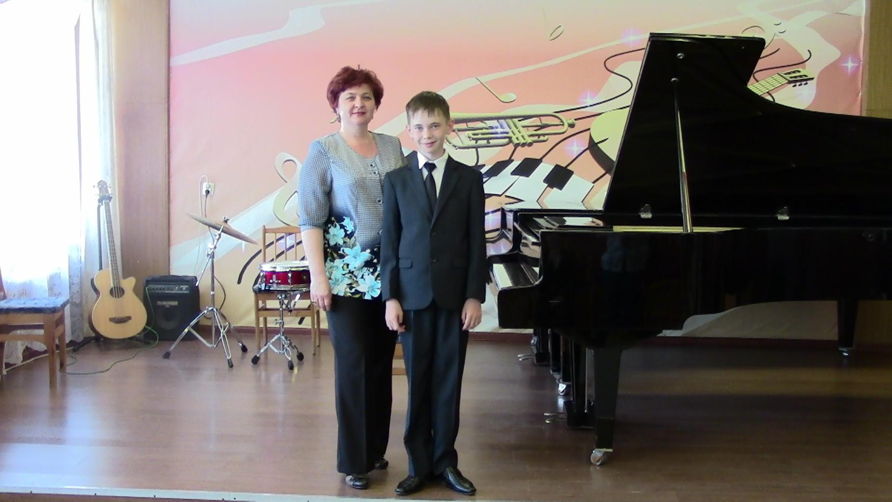 Преподаватель Громова Элита Ивановна и Даниил Семке