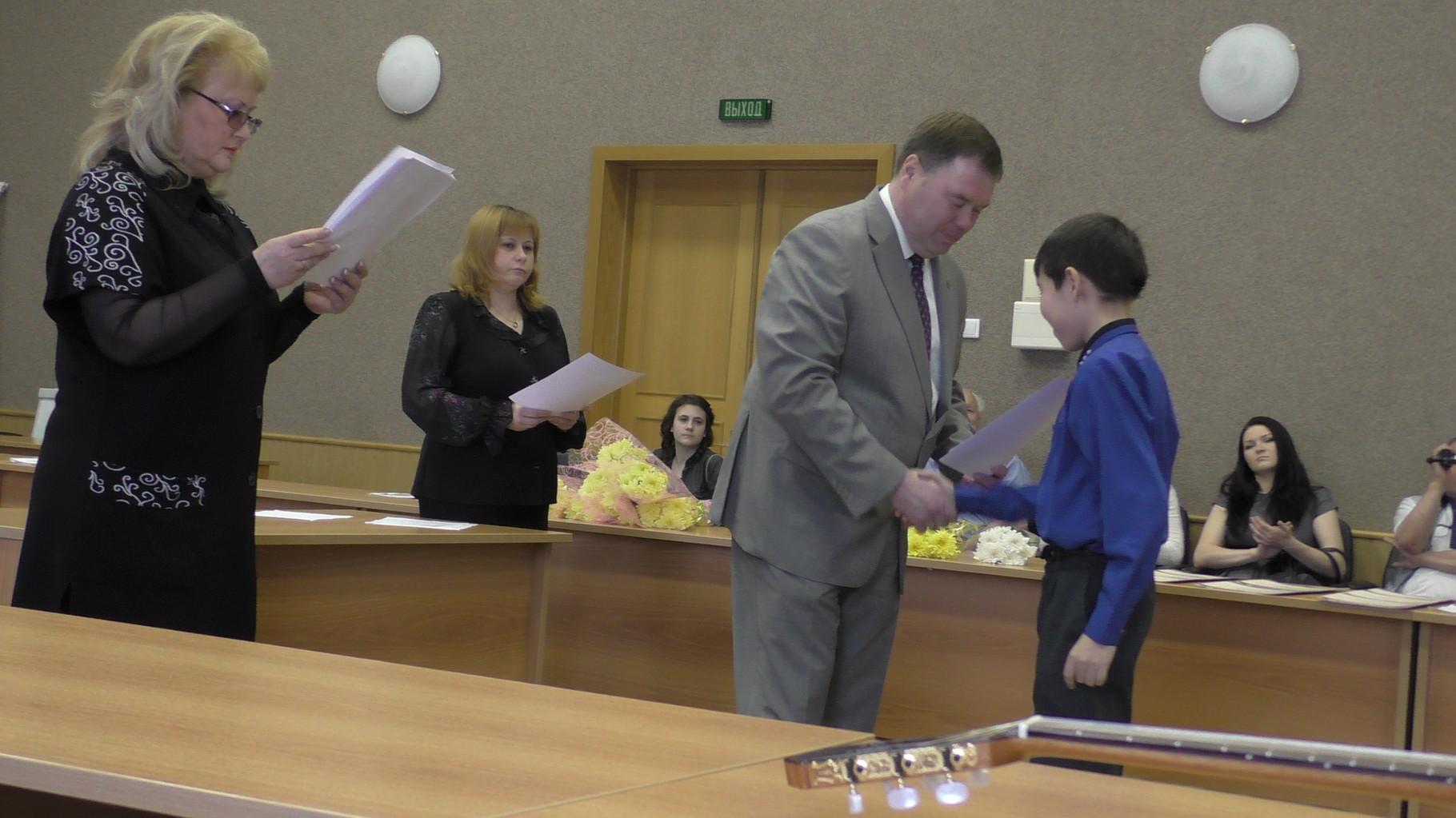 Награждение Хакимова Марата