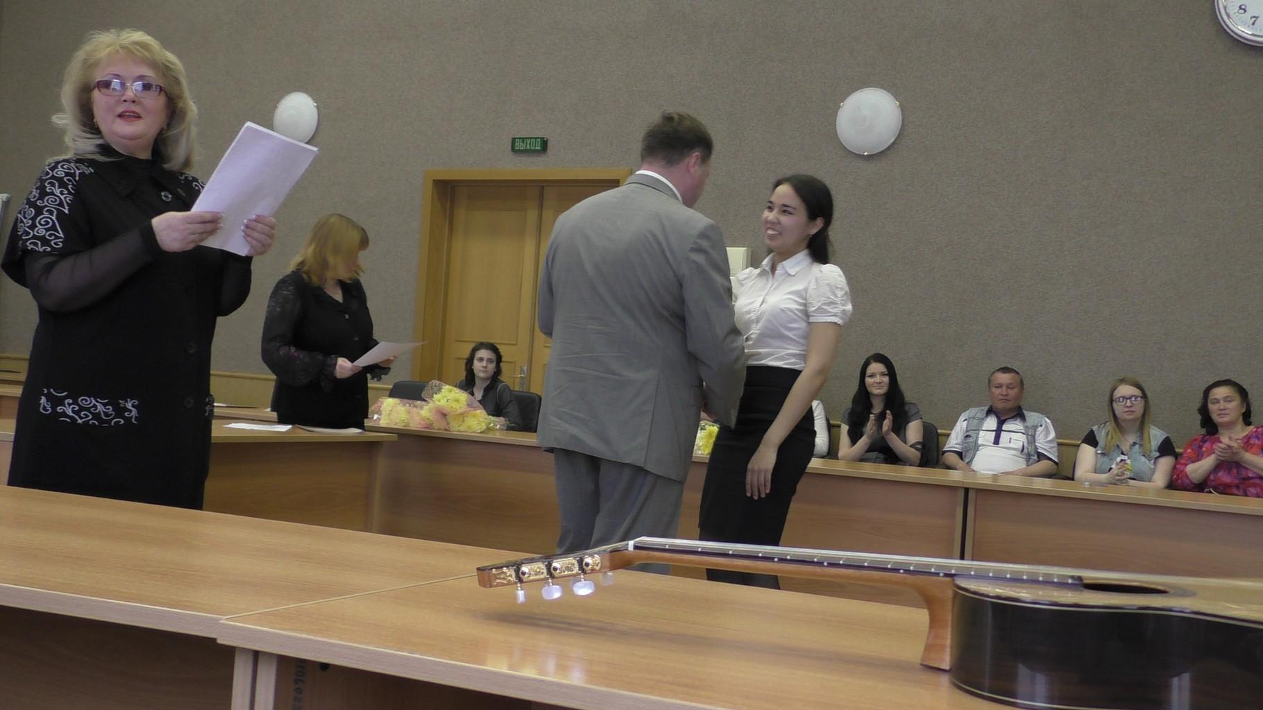 Награждение преподавателя Гайсиной А.А.
