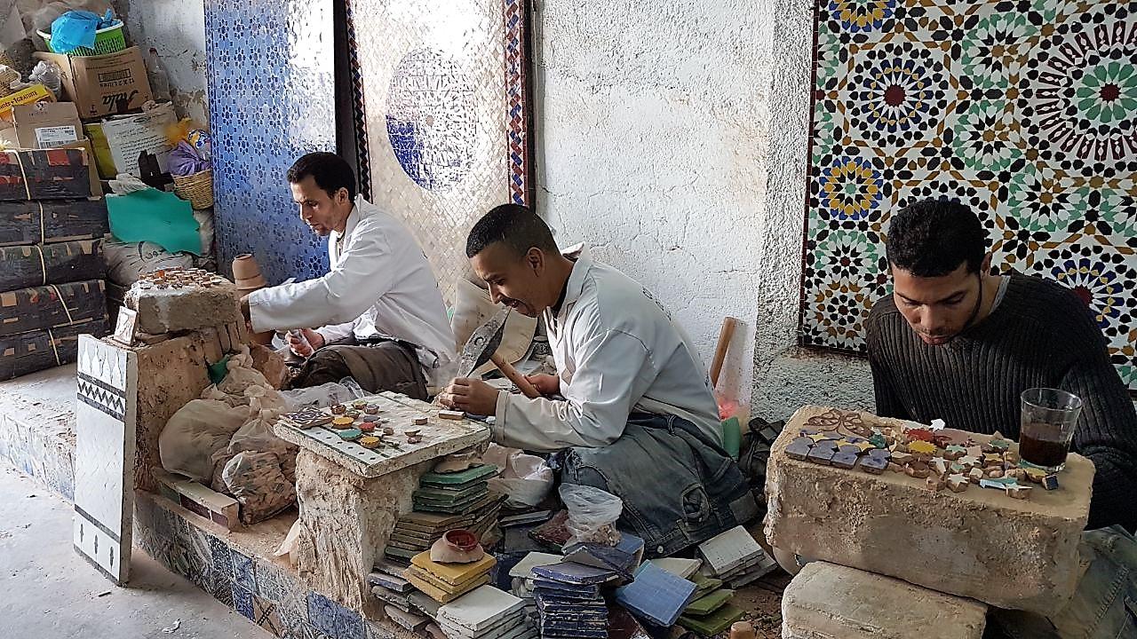 Mosaik-Herstellung