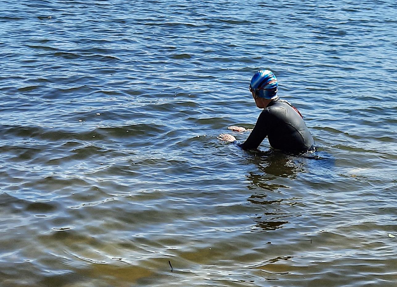 Sehnsucht nach dem Schwimmen im See