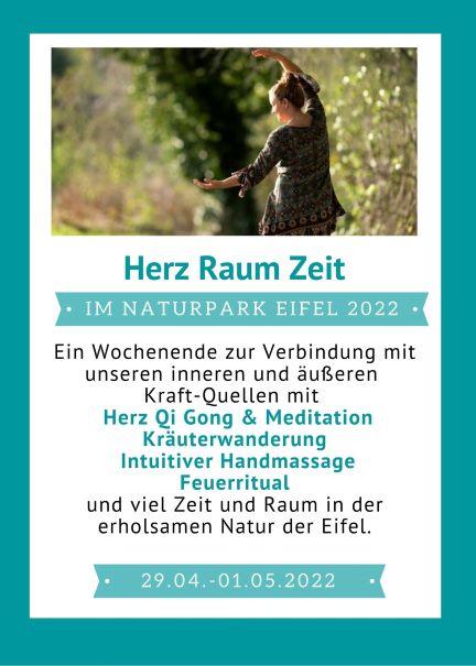 Auszeit Kurzurlaub in der Eifel Seminarwochenende mit Qi Gong Meditation und Kräuterwanderung im Nationalpark Eifel in Hellenthal