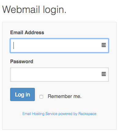 Boite webmail Jimdo