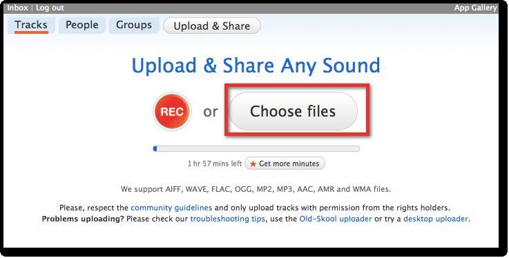 Utiliser Soundcloud avec Jimdo