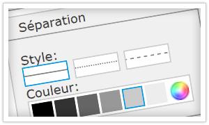 Comment personnaliser les traits de séparation sur un site Jimdo?