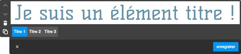 Exemple d'un élément Jimdo : l'élément texte !