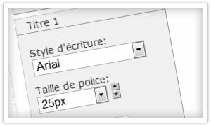 Comment changer la police sur un site Jimdo?