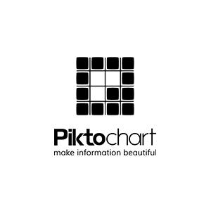 Pik to Chart se propose de vous aider à créer des inforgraphies et autres réalisations graphiques, et à les diffuser sur votre site. Aucune expérience en design n'est requise ! Attention : service proposé en anglais seulement.