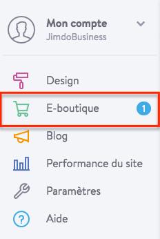 Gérer les commandes d'une e-boutique Jimdo