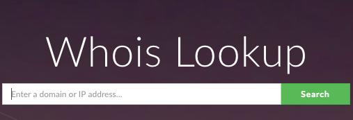 chercher un nom de domaine sur whois domain tools