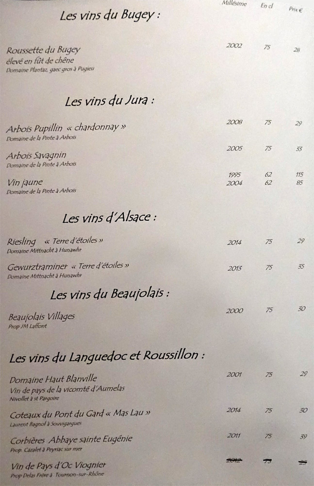 Bugey, Jura, Alsace, Beaujolais, Languedoc-Roussillon blancs