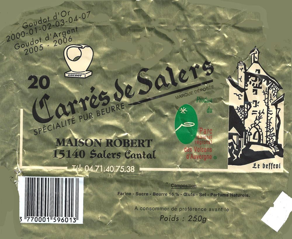 Carrés de Salers (excellents)