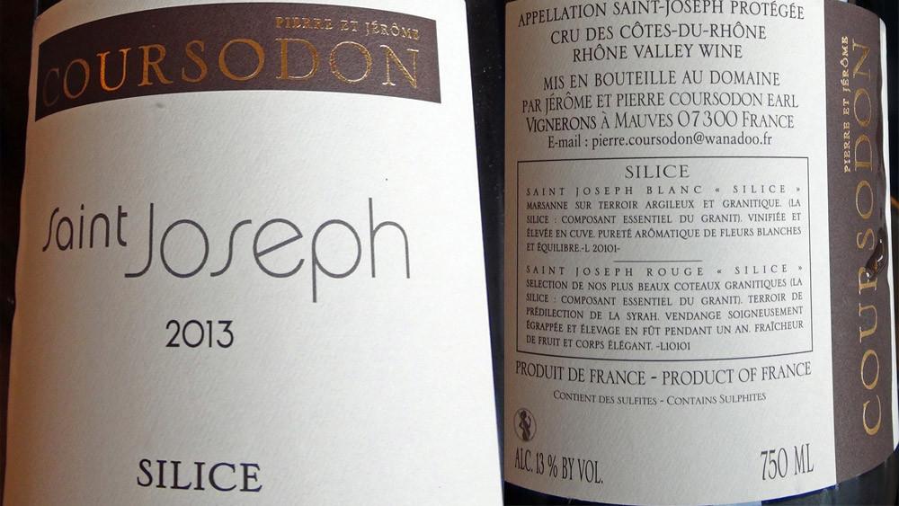 "Saint-Joseph rouge 2013 ""Silice"""