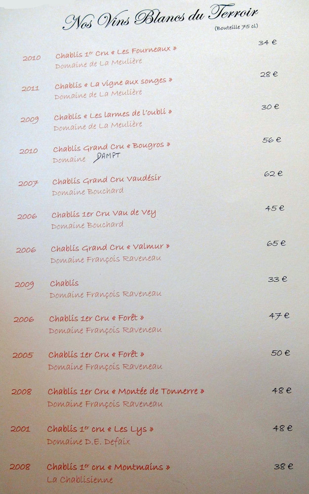 Vins blancs du terroir