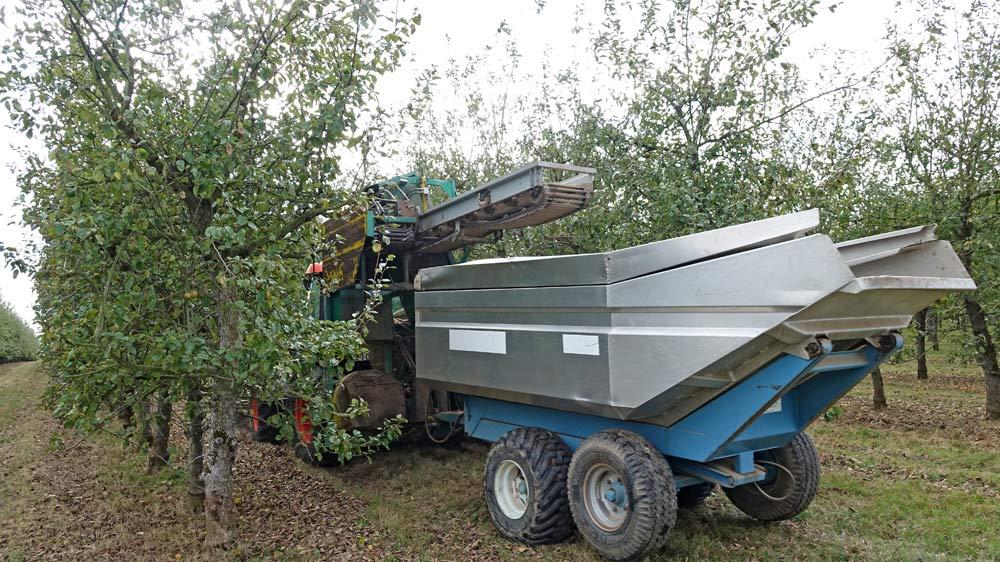 La machine à ramasser les pommes