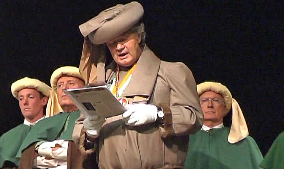 Philippe Olivier lors de son discours à Bergues - 1er octobre 2010