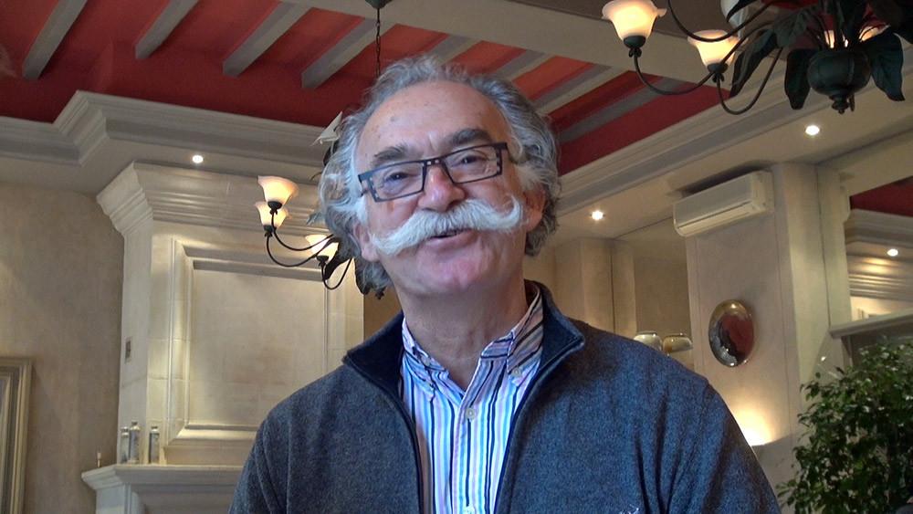 """Alexis Pélissou et sa célèbre moustache """"guidon"""""""