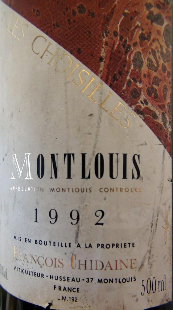 """Montlouis 1992 """"Les Croisilles"""" de Chidaine"""