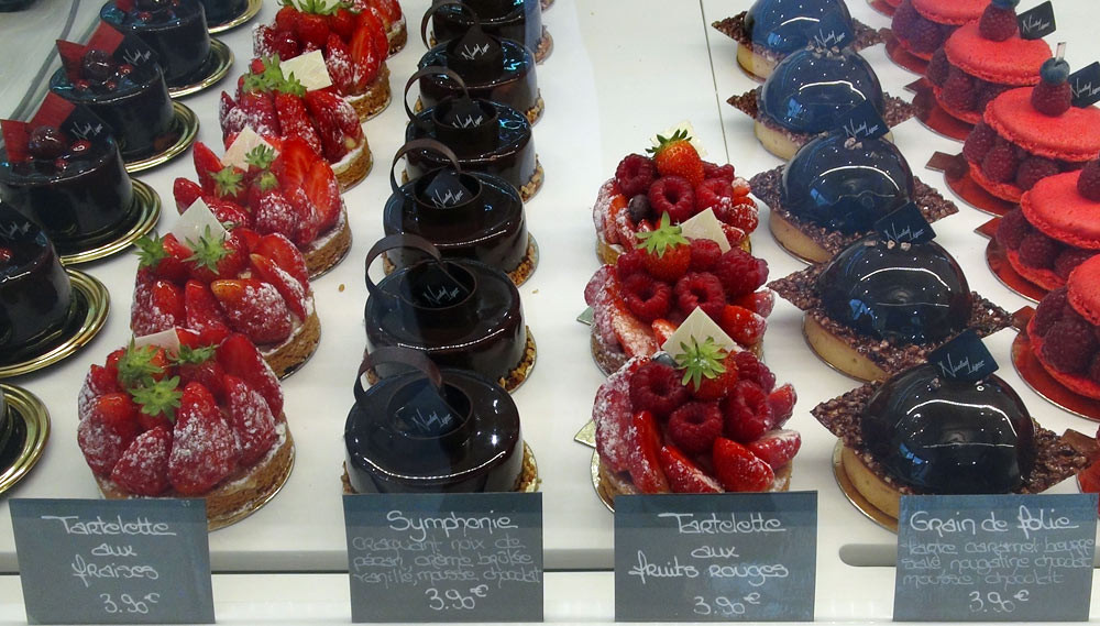 Valencia – Tartelette aux fraises – Symphonie - Tartelette aux framboises – Grain de folie – Macaron framboises - 9 octobre 2014