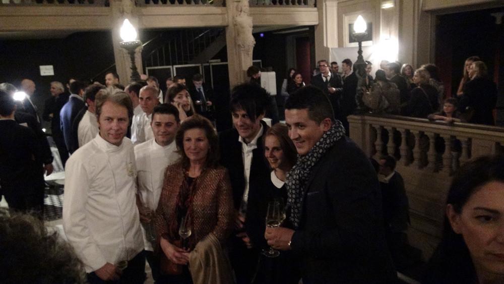 Quelques participants ... dont Olivier Streiff, le cuisinier dandy/gothique !