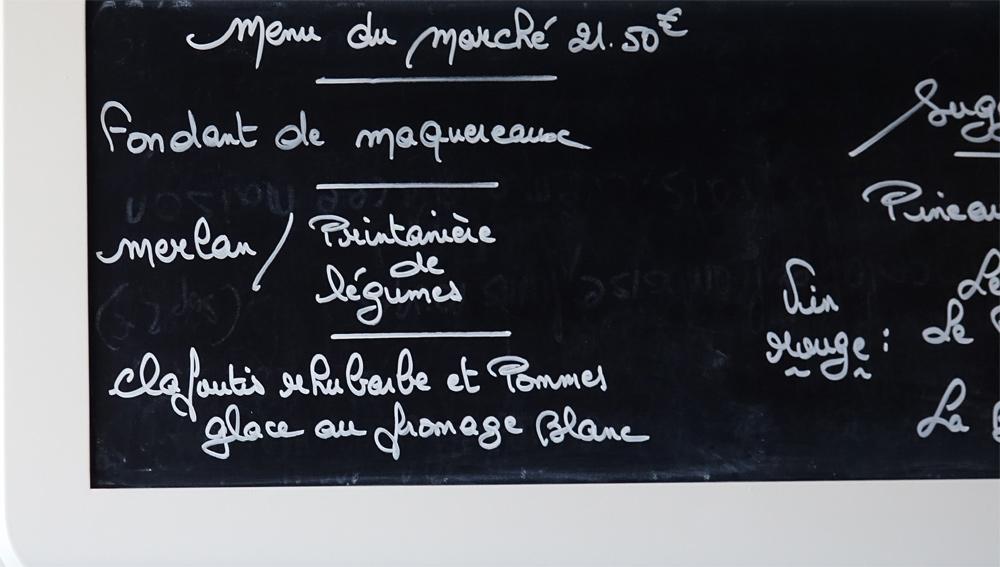 """Le """"Menu du Marché"""" à 21 € 50"""