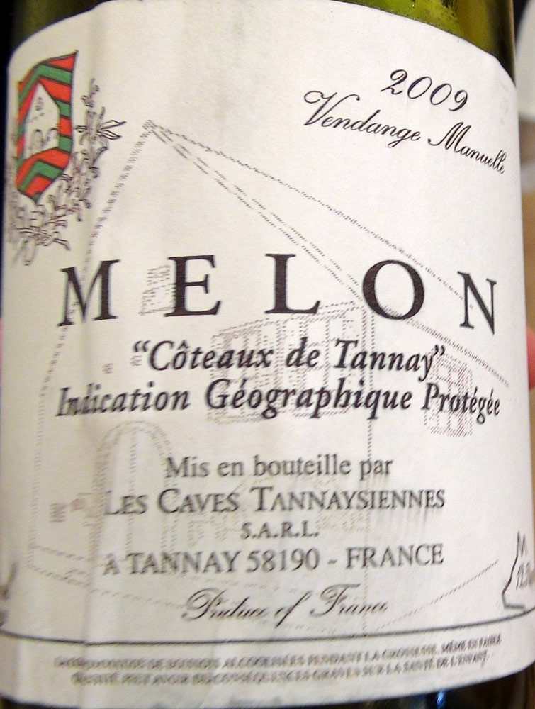 Vin de Pays des Coteaux de Tannay Melon 2009