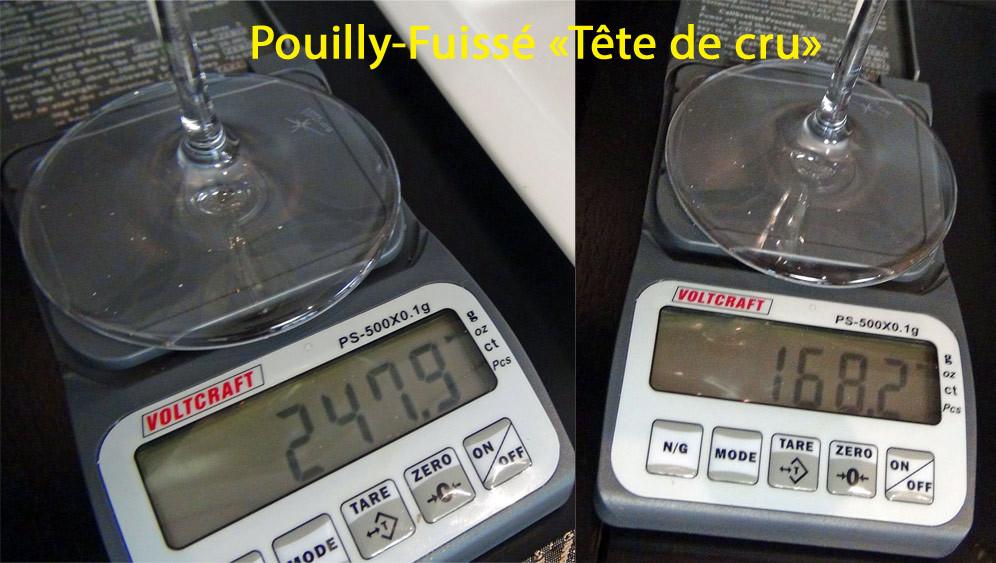 79,7 g pour le Pouilly !