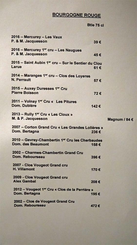 Vins rouges de Bourgogne