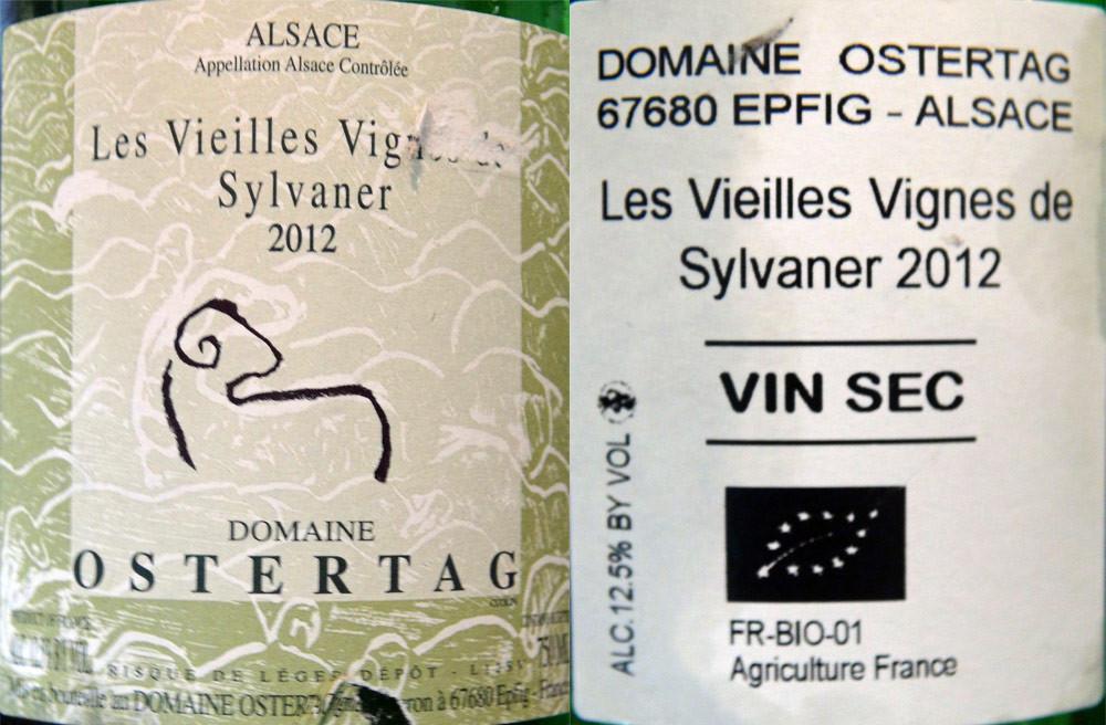 Sylvaner vieilles vignes 2012 - Ostertag
